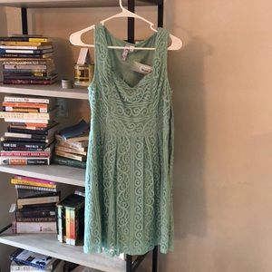 Francesca's mint green lace dress